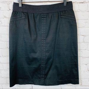 LARRY LEVINE Stretchy Pencil Skirt 10 Black